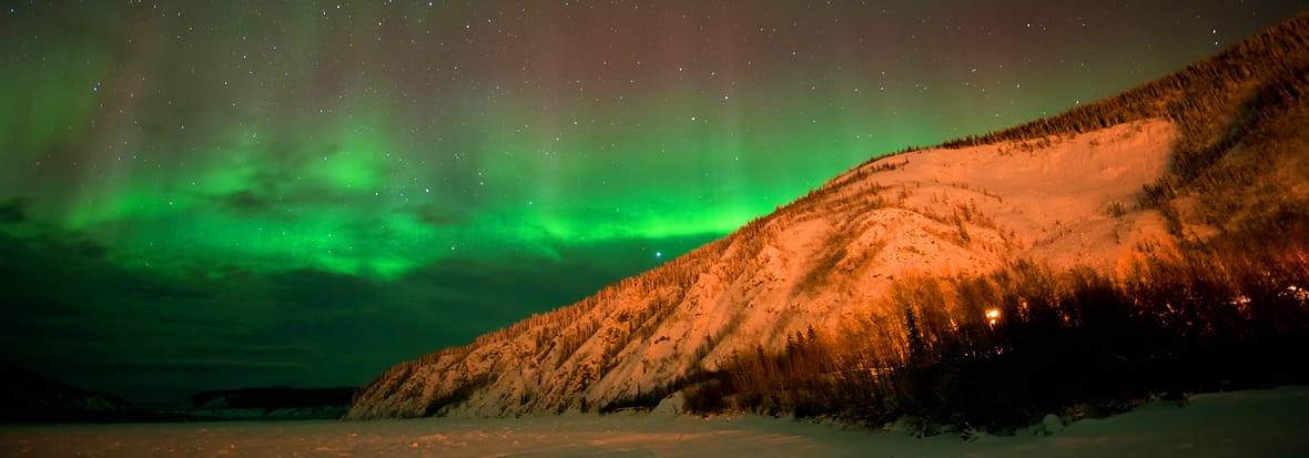 Aurora over the Yukon River
